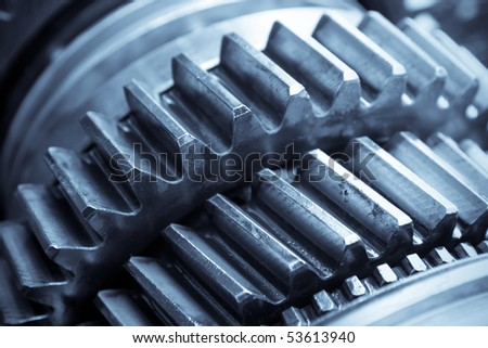 the gear in car transmission - stock photo