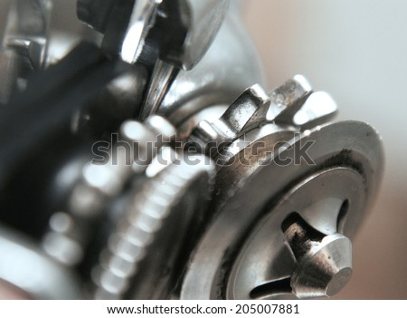 The gear metal wheel