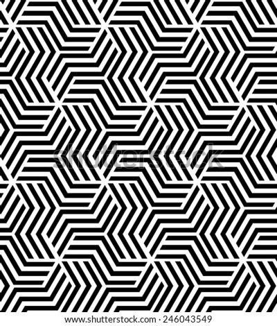 The geometric pattern by stripes, lines . Seamless  background. Black texture. - stock photo