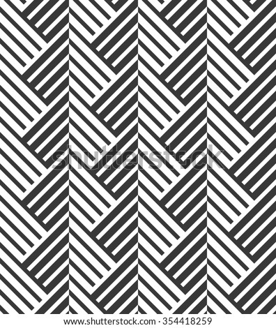 The geometric pattern by stripes . Seamless background. Black and white texture - stock photo