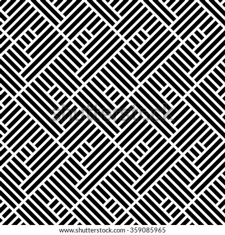 The geometric pattern by stripes Seamless background. Black and white texture.