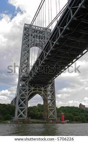 The George Washington Bridge in New York City - stock photo