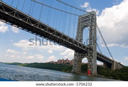 The George Washington Bridge in New York City - stock photo