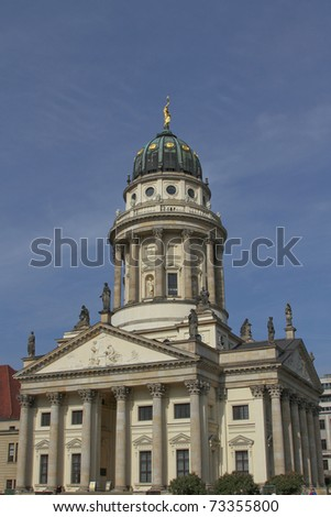 the German Cathedral at the Gendarmenmarkt in Berlin