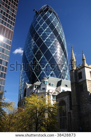 the gherkin building in financial district