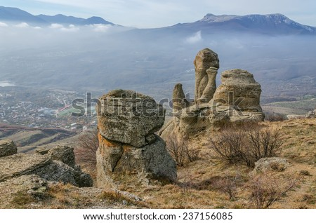 The Ghost Valley at the Crimea - stock photo