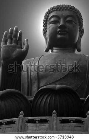 The giant buddha - stock photo