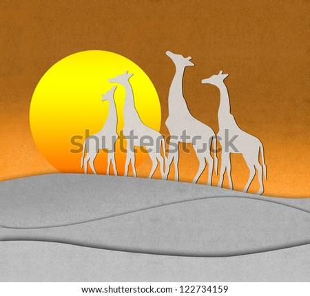 The giraffes - stock photo