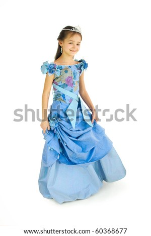 The girl in an elegant dress - stock photo
