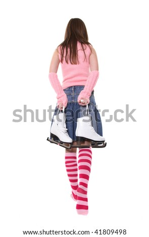 The girl leaves with the fads - stock photo