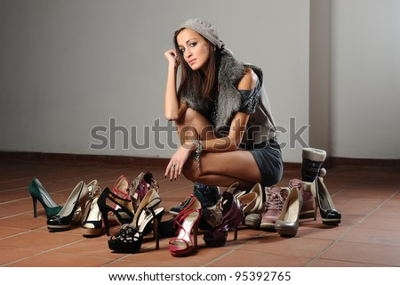 the girl loves to wear shoes