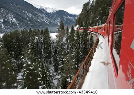 The Glacier Express - stock photo