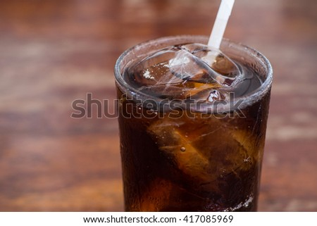 The Glass of Iced Cola
