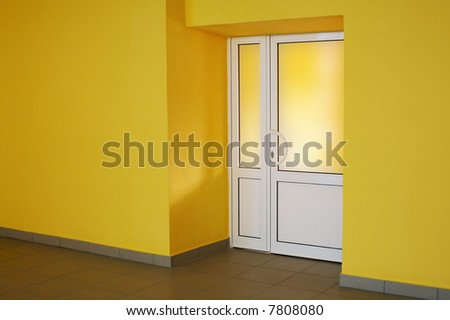 The glazed door in a yellow room & Glazed Door Stock Images Royalty-Free Images u0026 Vectors | Shutterstock pezcame.com