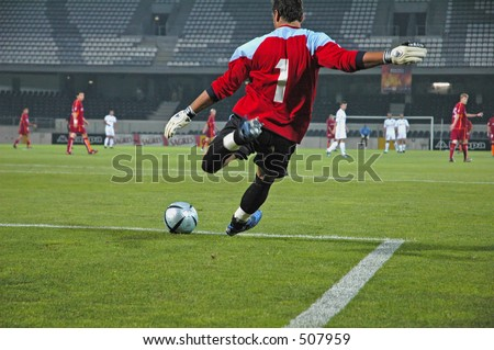 The Goalkeeper - stock photo