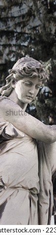 The goddess of love  Aphrodite (Venus in Roman mythology). Aphrodite is one of the 12 supreme gods of Olympus, goddess of beauty and love, the mother of Eros, the queen of nymphs and graces.  - stock photo
