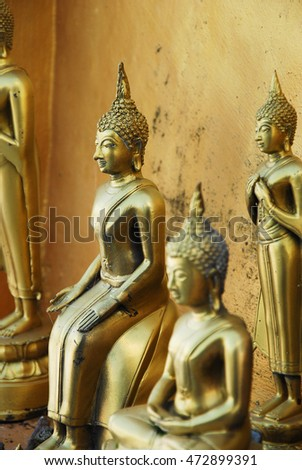 the gold buddha image in thailand