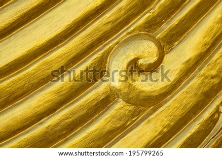 The gold pattern background. - stock photo