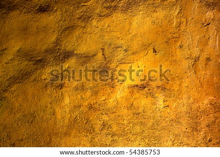 the gold wall texture from abstract background - stock photo
