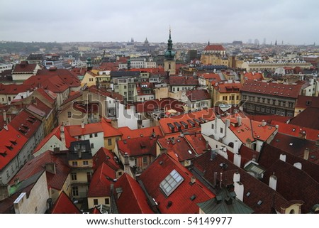 The golden city of Prague, Czech Republic - stock photo