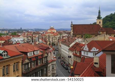 The golden city of Prague, Czech Republic