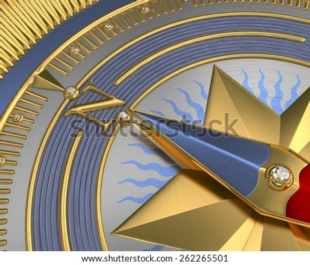 The Golden Compass - stock photo