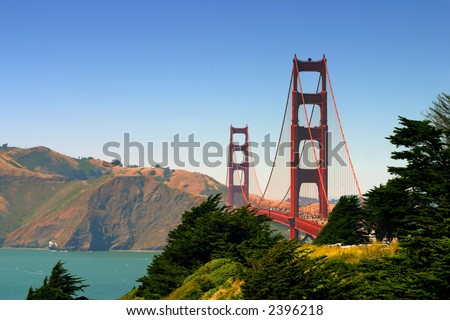 The Golden Gate Bridge at San Francisco, California
