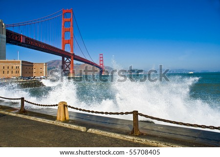 The Golden Gate Bridge in San Francisco bay - stock photo