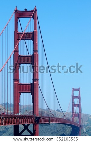 The Golden Gate bridge in San Francisco California. - stock photo