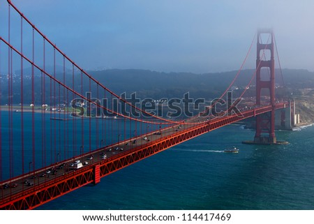 The Golden Gate Bridge in San Francisco, California, USA - stock photo