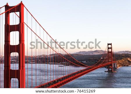 The Golden Gate Bridge in San Francisco, USA - stock photo
