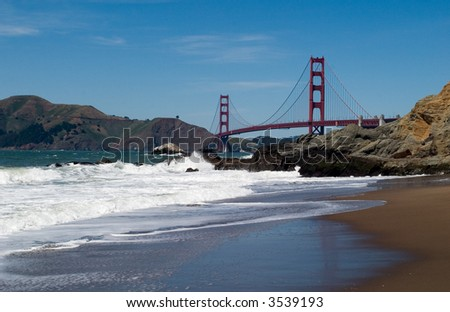 The Golden Gate Bridge is acclaimed as one of the world's most beautiful bridges and with its tremendous towers, sweeping main cables and great span.
