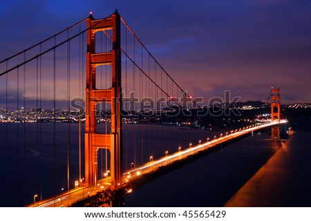 The Golden Gate Bridge of San Francisco, California, USA - stock photo