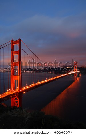 The Golden Gate Bridge of San Francisco, California, USA