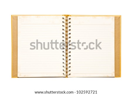 The golden notebook. - stock photo