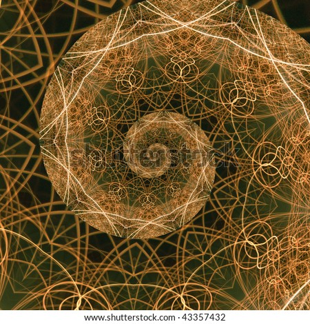 The Golden Ratio, a mathematical phenomenon. Abstract background fractal representation of the golden mean.