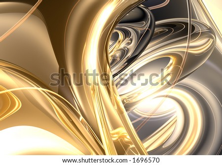 the golden ring dreams (abstract) - stock photo