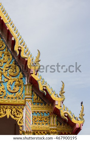 the golden temple roof in thai temple