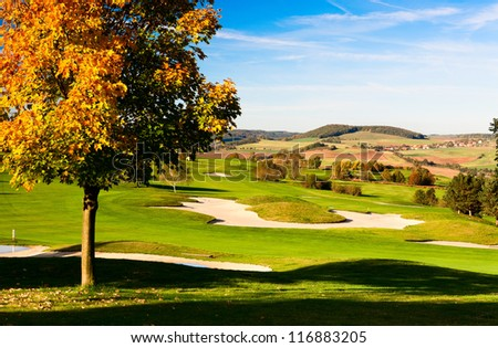 The golf course in Prague in Czech Republic - stock photo