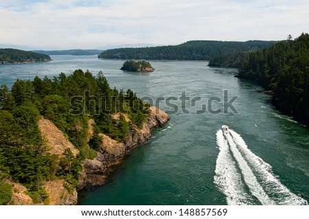 The gorgeous Whidbey Island in Washington, USA - stock photo