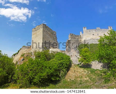 The gothic Beckov castle ruin in Slovakia