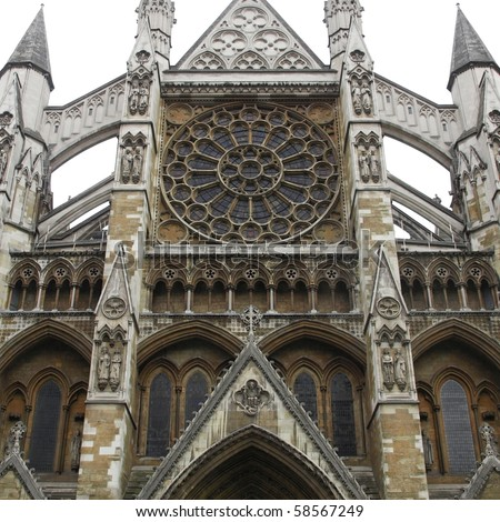 The gothic Westminster Abbey church in London, UK - stock photo