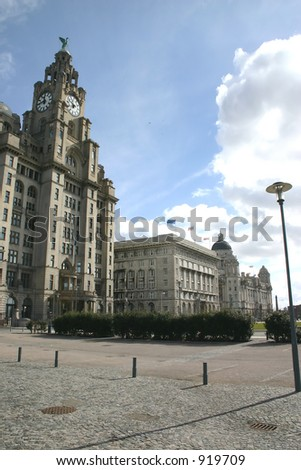 The 3 Graces in Liverpool - stock photo