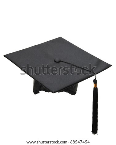 the graduation hat - stock photo