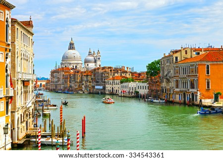 The Grand Canal in Venice, Italy. - stock photo