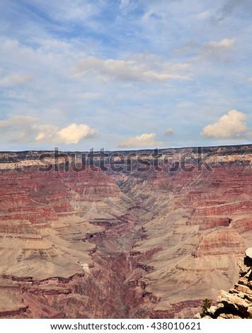 The Grand Canyon and Colorado River  - stock photo