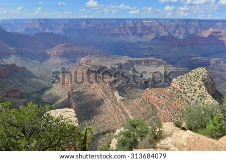 The Grand Canyon National Park in Arizona in late summer - stock photo