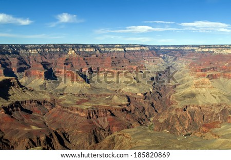 The Grand Canyon National Park (South Rim), Arizona America / USA / Grand Canyon Background / Las Vegas / New Mexico - stock photo