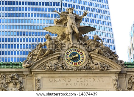 The Grand Central Station in New York City - stock photo