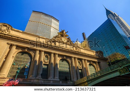 The Grand Central Station in New York City, USA - stock photo